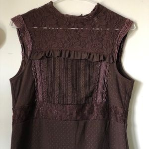Tristan | Lace-detailed sleeveless top